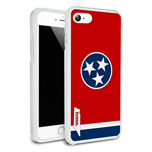 Tennessee TN Home State Flag Protective Slim Hybrid Rubber Bumper Case for Apple iPhone 7 or iPhone 7+ Plus - iPhone 7 (NOT Plus ()