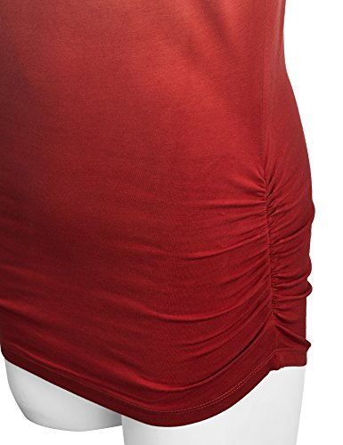 WT989 Womens 3/4 Sleeve Ombre Dolman Top L WINE by Lock and Love (Image #3)