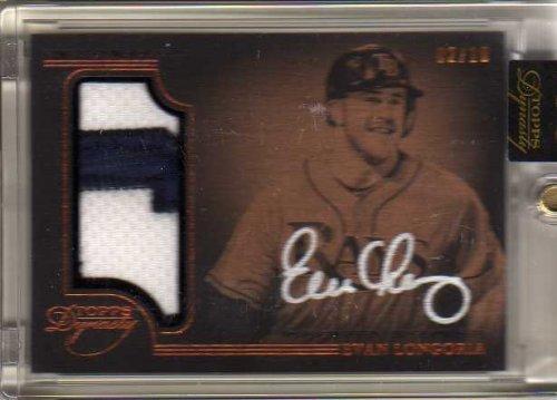 2014 Topps Dynasty Autograph Patches #APEL9 Evan Longoria Autograph Jersey Card Serial #'d/10