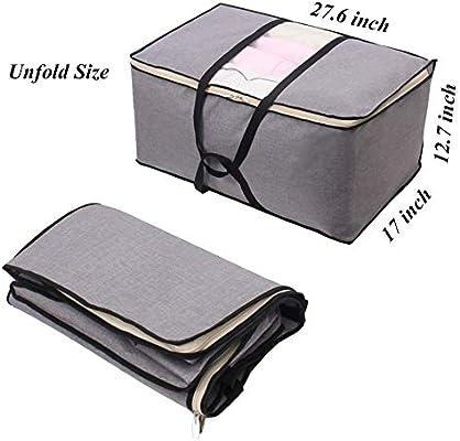 Bolsa de Almacenamiento Plegable con Cremallera organizadores topxingch Almohadas Small su/éteres para Guardar Ropa Mantas armarios Ahorro de Espacio Polka Dot Tela sin Tejer