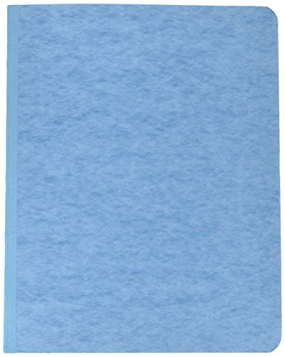 """Acco Pressboard Report Cover, Prong Clip, Letter, 3"""" Capacity, Light Blue - (Pack of 25)"""