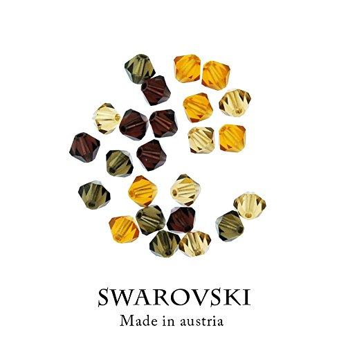スワロフスキービーズ「ブラウンミックス」4ミリ ハンドメイド素材の商品画像