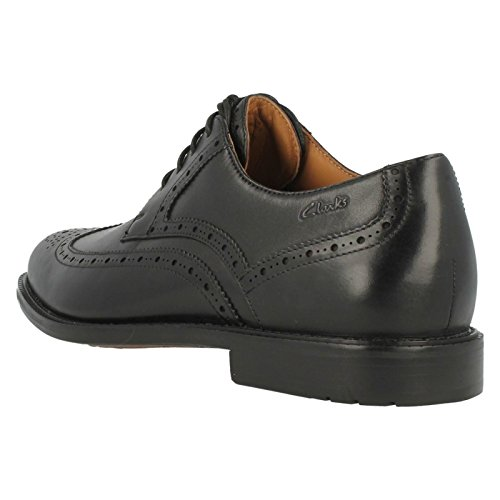Clarks - Zapatos con cordones para hombre Black