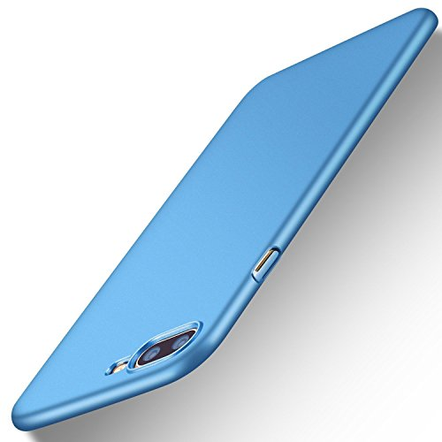 (iPhone 7 Plus Case, iPhone 8 Plus Case, TORRAS Slim Fit Shell Hard Plastic Full Protective Anti-Scratch Resistant Cover Case Apple iPhone 7 Plus (2016) / iPhone 8 Plus (2017)- Light Blue)
