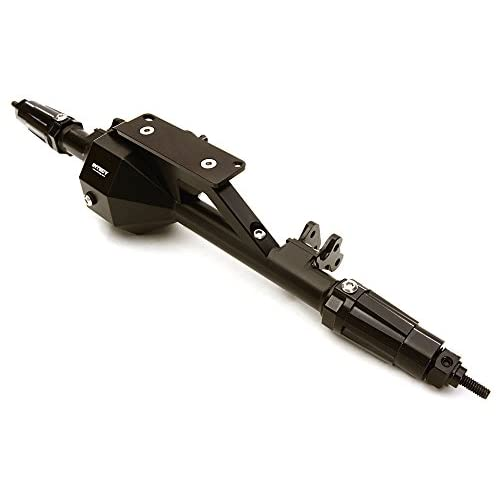 Integy RC Model Hop-ups C27113BLACK Billet Machined Complete Rear Axle Assembly for Axial 1/10 RR10 Bomber 4WD