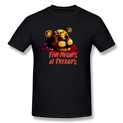 AnneLano Men's Five Nights At Freddy's Tshirt XX-Large Black