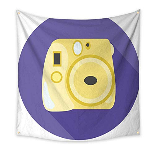 Anniutwo Tapestry Beach Yellow Instant Photo Camera Old Scho