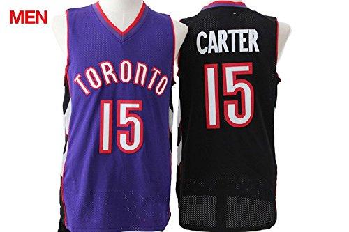 Mens Brand New Retro Jersey, Toronto Raptors #15 Vince Carter Black Purple M