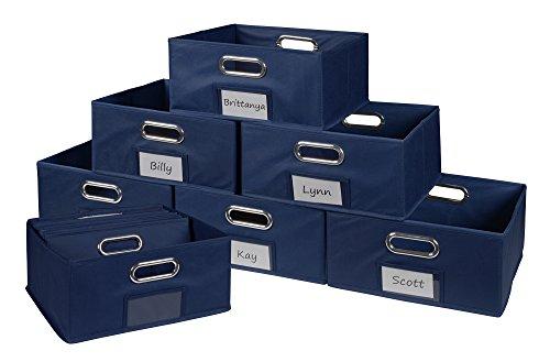 Niche Cubo Half-Size Foldable Fabric Storage Bins (Set of 12), - Regency Dresser Drawer 6