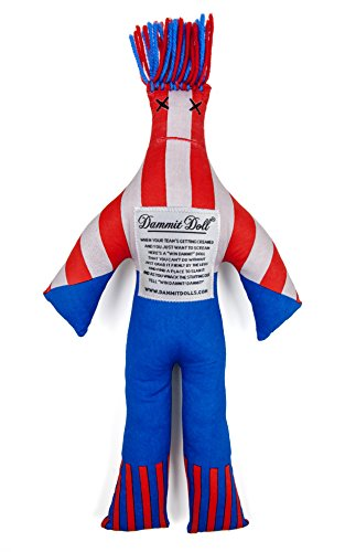 Dammit Doll - Win The Allstar - Navy & Red - Stress Relief - Gag Gift - Sports Teams