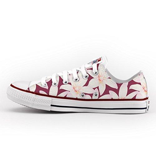 Converse All Star Personnalisé et Imprimés - chaussures à la main - produit Italien - Hawaii Flowers