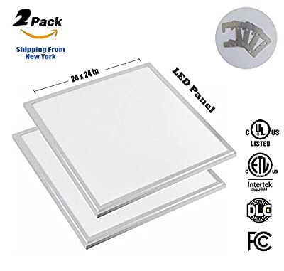"LED Panel Light 2x2 FT, 40W (280W Equivalent), 5000K, 3600 Lumens Cool White, 24 x 24"", Dimmable 0-10v, 100-277v, DLC-Qualified and Lighting Facts (Eligible for Rebate Programs)"