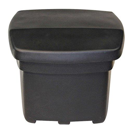 Sand / Salt / Ice Melt / De-icer Outdoor Storage Bin (Black)