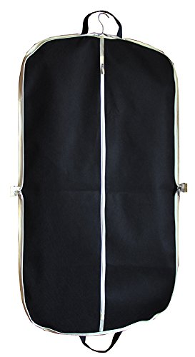 Black Zippered Suit Bag 42' Length Coat Cover for Travel