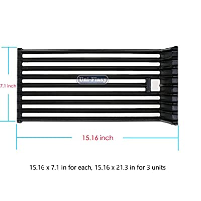 Uniflasy Cast Iron Grill Cooking Grid Grates Replacement Parts for Broilmaster (Small)