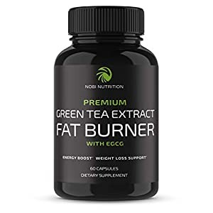 Health Shopping Nobi Nutrition Green Tea Fat Burner – Green Tea Extract Supplement with EGCG – Diet Pills, Appetite Suppressant…