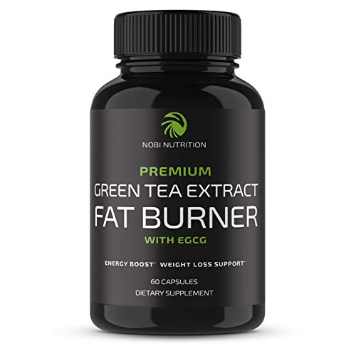 Nobi Nutrition Green Tea Fat Burner – Green Tea Extract Supplement with EGCG – Diet Pills, Appetite Suppressant, Metabolism & Thermogenesis Booster – Healthy Weight Loss for Women & Men (60 Capsules)
