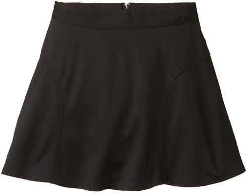 Amy Byer Big Girls' Ponte Circle Skirt with Pockets, Black, Small