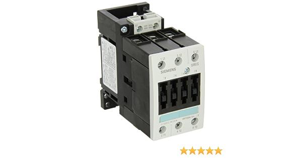 Siemens 3RT10 46-3AV60 Motor Contactor 3 Poles Spring Loaded Terminals S3 Frame Size 480V at 60Hz AC Coil Voltage 3RT10463AV60