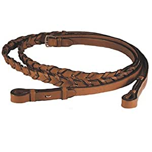 Exselle Laced Reins, 5/8 x 48-Inch/Medium, Brown
