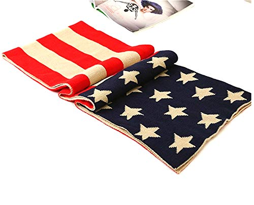 Winter Scarf Warm USA American Flag Soft Warm US Scarves for Women Men 69