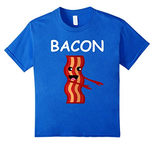 Kids Matching Halloween Shirt BACON and eggs Costume for Couples 12 Royal Blue