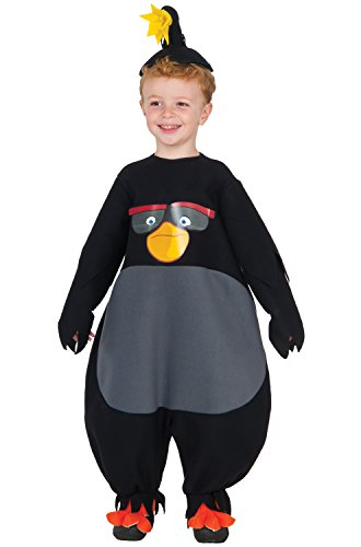 Rubie's Baby Angry Birds Movie Bomb Romper Costume, Multi, Toddler 2T
