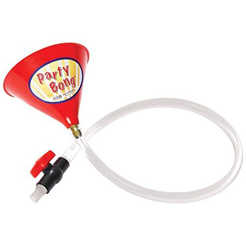 College Special Single Red Large Beverage Party Bong with Valve by 2PO