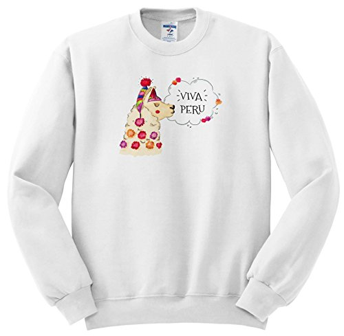 Price comparison product image 3dRose Sven Herkenrath Animal - Viva Peru Lama Alpaca Funny Animal - Sweatshirts - Youth Sweatshirt Med(10-12) (ss_280339_11)