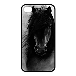Horse Design Solid Rubber Customized Cover Case for iPhone 4 4s 4s-linda61