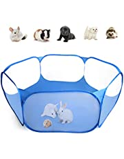 Casifor Guinea Pig Cage Rabbit Cage Indoor with Mat Playpen Perfect Size for Small Animal Pet Play Pen Easy to Clean Exercise Yard Fence Portable Tent for Hamsters, Chinchillas, Hedgehog, Puppy, Cats