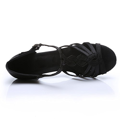 Style Danse De De Femmes Chaussures Jinfengkai Noir Salsa De Latine 230 Bw5Fxq8g