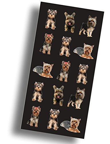 """(Custom & Luxurious {30"""" x 60"""" Inch} 1 Single Large & Thin Soft Summer Beach & Bath Towels Made of Quick-Dry Cotton w/ Small Furry Puppy Dog Yorkshire Terrier Fluff Ball Souvenir Style [Multicolor])"""