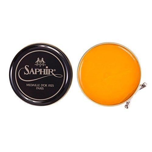 Saphir Medaillie dOr 1925 Paris Pastete de Luxe Hochglanz Wachs Politur für alle Glatt Leder 50ml gelb Wachs