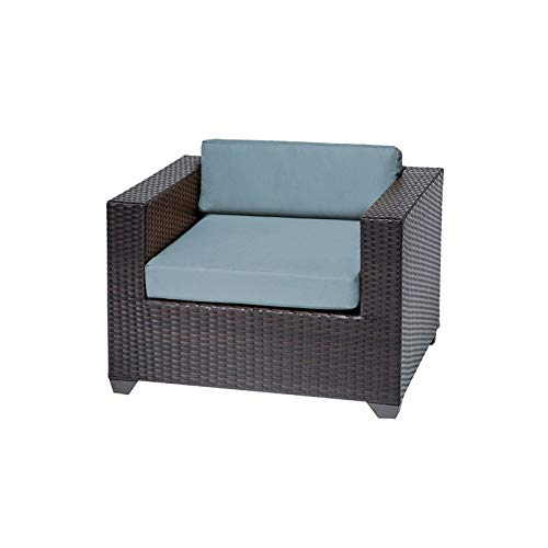 TK Classics Belle Outdoor Wicker Patio Club Chair in Spa