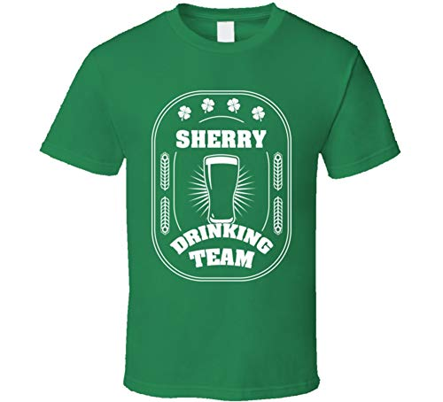 SHAMBLES TEES Sherry Drinking Team St. Patrick's Day Last Name Group T Shirt L Irish Green (Best Sherry For Drinking)