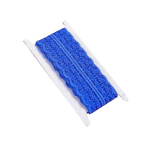 DRAGON SONIC Lace Ribbon Material Clothes Cloth Curtain Lace Accessories Blue (150 cm)
