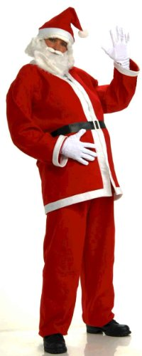 [Forum Novelties Men's Plus-Size Simply Santa Claus Costume, Multi, X-Large] (Extra Large Santa Suit)