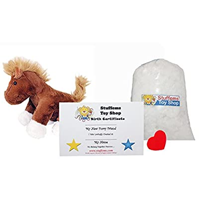 Make Your Own Stuffed Animal Mini 8 Inch Chestnut The Horse Kit - No Sewing Required!: Toys & Games