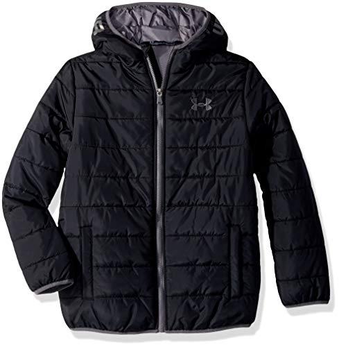 Under Armour Boys Jacket - Under Armour Boys' Big Pronto Puffer Jacket, Black, Large (14/16)