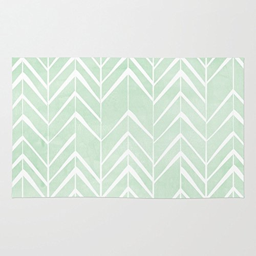 Society6 Mint Chevron Arrows Rug 4' x 6' (Mint Rug)