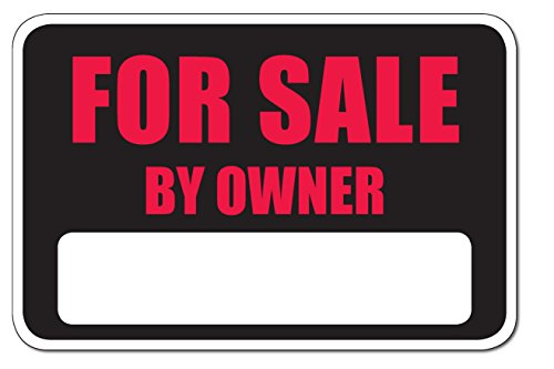 "For Sale by Owner bumper sticker decal (Red (Pack of 1), 12"" x 8"")"