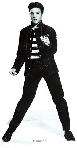 Elvis Presley Cardboard Cutout Life Size Standup Jailhouse Rock (Elvis Stand Up)