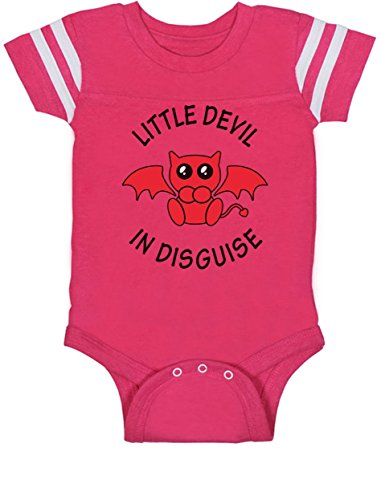 Little Devil in Disguise Cute Easy Halloween Costume Baby Jersey Bodysuit 24M Wow Pink
