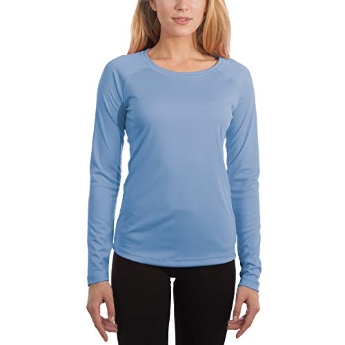 - Vapor Apparel Women's UPF 50+ UV Sun Protection Performance Long Sleeve T-Shirt Medium Columbia Blue