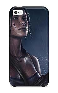MMZ DIY PHONE CASEiphone 5/5s Hard Back With Bumper Silicone Gel Tpu Case Cover Tomb Raider Reborn Art