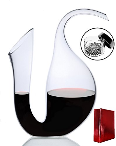 Amazing Home Penguin Wine Decanter 100% Hand Blown Lead-free Crystal Glass,Prepackaged Red Wine Carafe, Wine Gift, Wine Accessories,Luxury Gift Box Wraped and Free Cleaning Beads (Decanter Box)
