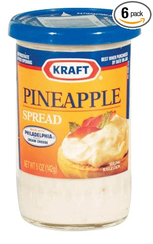 Kraft Cheese Spread Pineapple 5 Ounce Pack Of 6