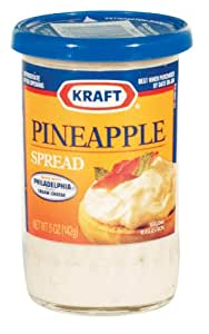 Kraft Cheese Spread, Pineapple, 5-Ounce (Pack of 6)