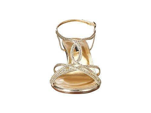 Caparros Women's Pandora Gold Metallic Sandal 7.5 C - Wide